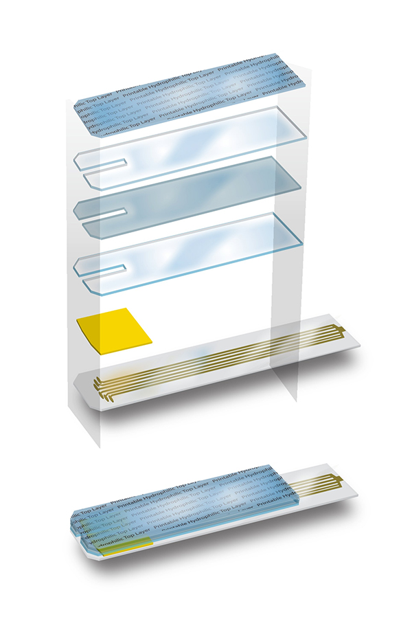 Diabetes Microfluidic test strip