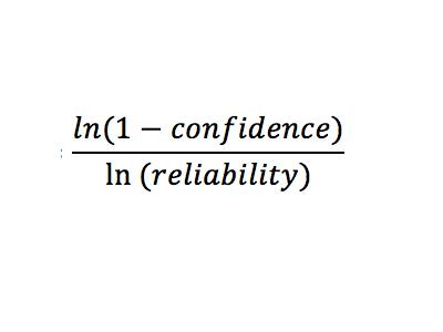 Acceptance criteria, formula