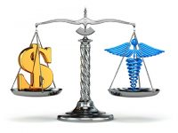Justice scale, healthcare, cost