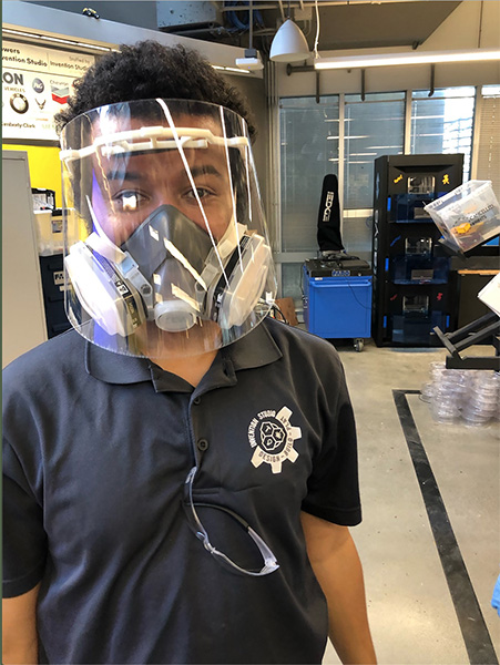 Georgia Tech, face shield, coronavirus, COVID-19