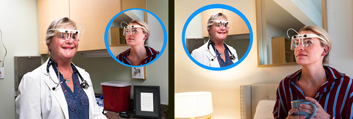 Oculenz remote patient monitoring headset