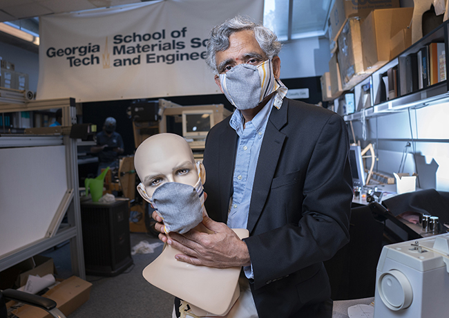 Sundaresan Jayaraman, Georgia Tech, facemask