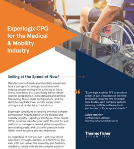 Experlogix CPQ for the Medical & Mobility Industry