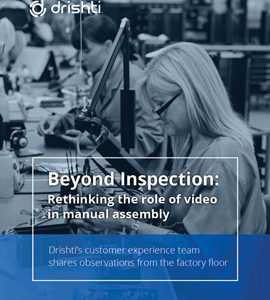 Beyond Inspection: Rethinking the role of video in manual assembly