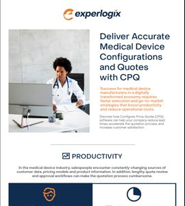Deliver Accurate Medical Device Configurations and Quotes with CPQ